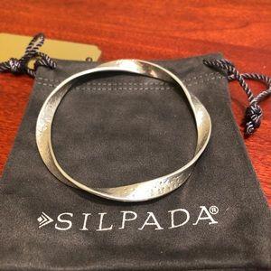 Silpada Sterling Twisted Ribbon Bangle Bracelet